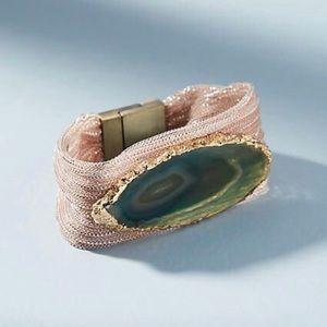 NEW Anthropologie Serefina Agate Wrap Bracelet